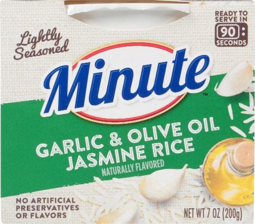 Minute Garlic & Olive Oil Jasmine Rice Perspective: front