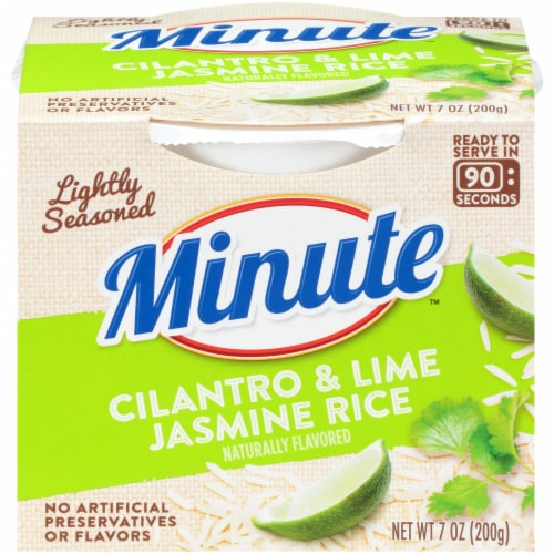 Minute Ready to Serve Cilantro & Lime Jasmine Rice Perspective: front