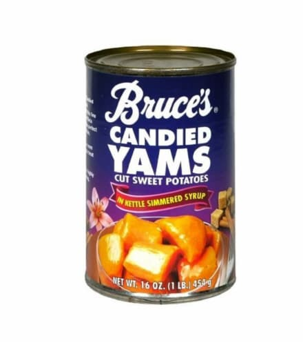 Bruce's Candied Yams in Syrup Perspective: front