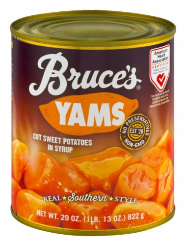 Bruce's Yams in Syrup Perspective: front