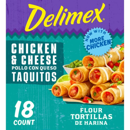 Delimex® Chicken & Cheese Large Flour Taquitos Perspective: front