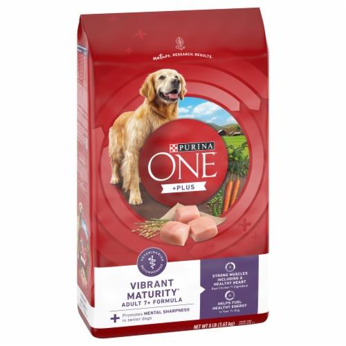 Purina One SmartBlend Vibrant Maturity Adult 7+ Formula Senior Dry Dog Food Perspective: front