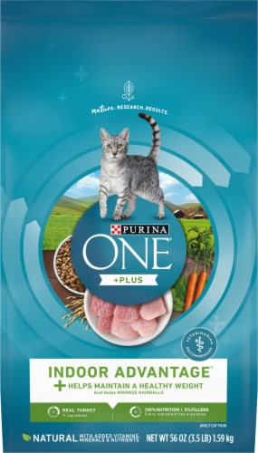 Purina One Indoor Advantage Hairball and Weight Control Natural Dry Cat Food Perspective: front