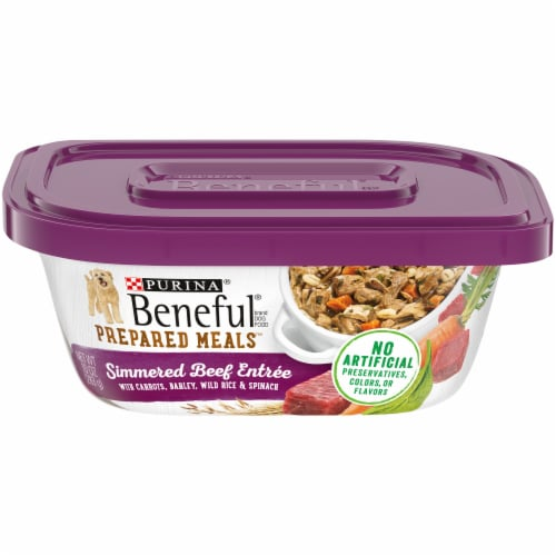 Beneful Prepared Meals Simmered Beef Entree Adult Wet Dog Food Perspective: front