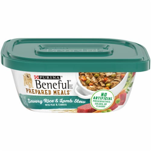 Beneful Prepared Meals Savory Rice & Lamb Stew Adult Wet Dog Food Perspective: front