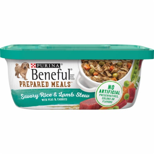 Beneful Prepared Meals Savory Rice & Lamb Stew 8 Count Perspective: front