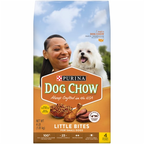 Dog Chow Little Bites Real Chicken & Beef Adult Dry Dog Food Perspective: front