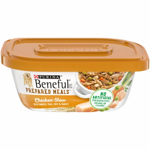 Beneful Prepared Meals Chicken Stew Adult Wet Dog Food Perspective: front