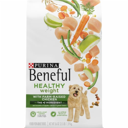 Beneful Healthy Weight with Real Chicken Dry Dog Food Perspective: front