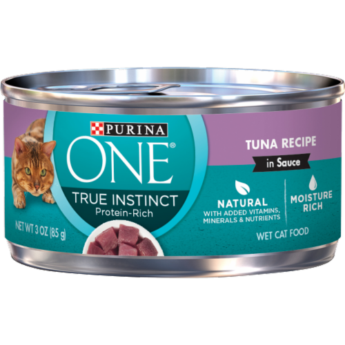 Purina ONE Natural True Instinct Protein Rich Tuna Recipe Wet Cat Food Perspective: front