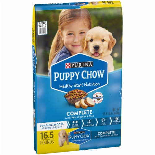 Puppy Chow Complete with Real Chicken & Rice Dry Puppy Food Perspective: front