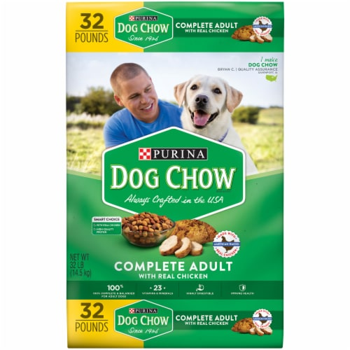 Purina Dog Chow Complete Adult with Real Chicken Dry Dog Food Perspective: front