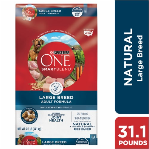 Purina ONE SmartBlend Joint Health Large Breed Adult Formula Natural Dry Dog Food Perspective: front
