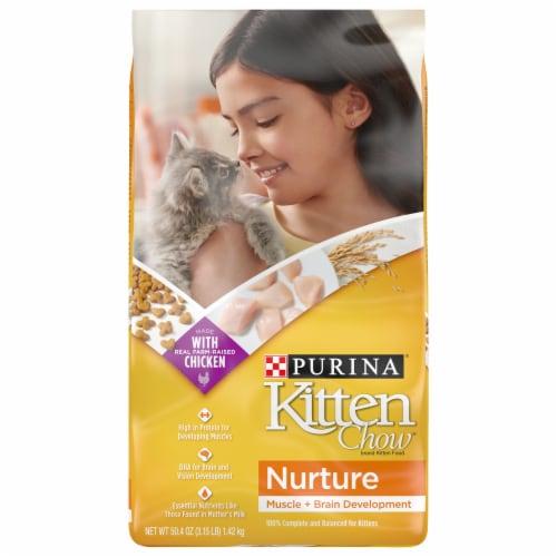 Purina Kitten Chow Nurture Dry Kitten Food Perspective: front