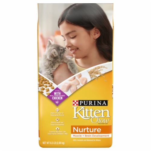 Purina Kitten Chow Nurture Dry Kitten Food Perspective: front