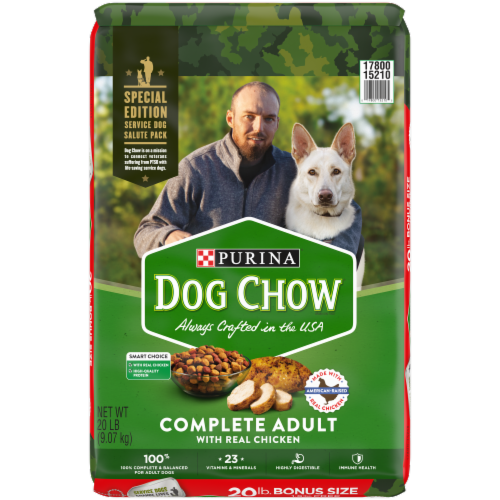 Dog Chow® Complete Adult with Real Chicken Dry Dog Food Perspective: front