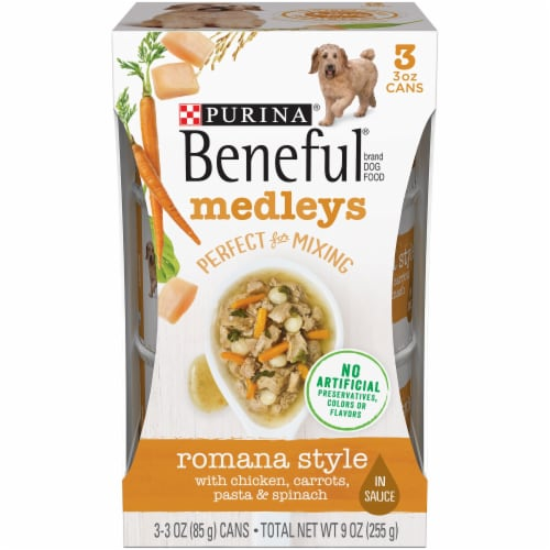 Beneful Medleys Romana Style Wet Dog Food Perspective: front