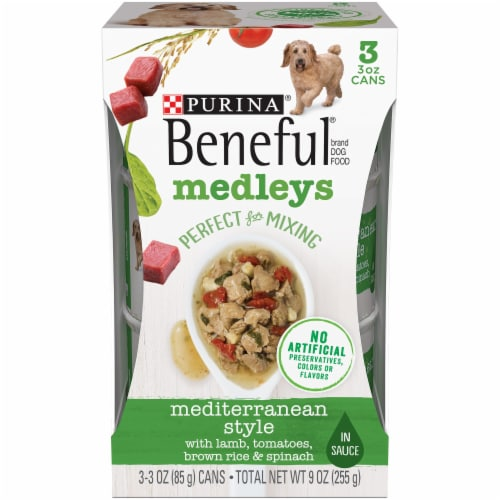 Beneful Mediterranean Style Medleys Wet Dog Food Perspective: front