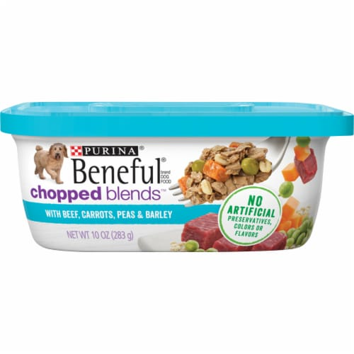 Beneful Chopped Blends Beef Carrots Peas & Barley Wet Dog Food Perspective: front