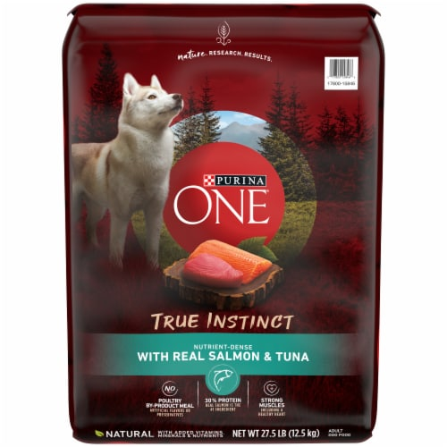 Purina ONE SmartBlend True Instinct Salmon & Tuna Natural Dry Dog Food Perspective: front