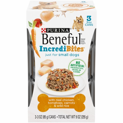 Beneful IncrediBites with Real Chicken Small Breed Wet Dog Food Perspective: front