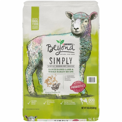 Beyond Simply 9 Ranch-Raised Lamb & Whole Barley Recipe Adult Dry Dog Food Perspective: front