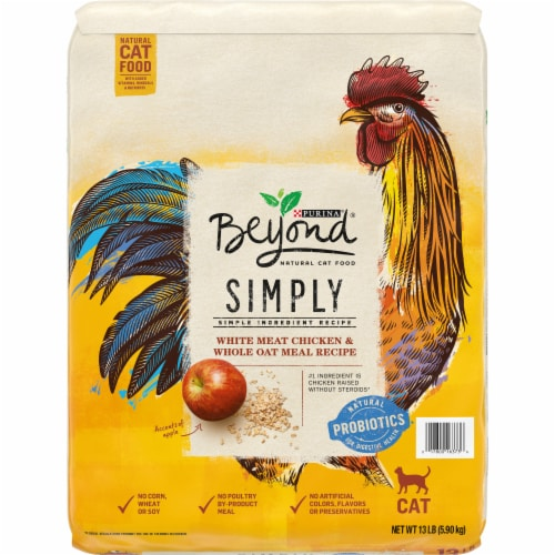 Beyond Simply White Meat Chicken & Whole Oat Meal Recipe Adult Dry Cat Food Perspective: front