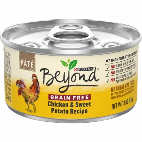 Beyond® Grain Free Chicken & Sweet Potato Recipe Pate Wet Cat Food Perspective: front