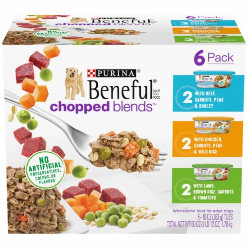 Beneful Chopped Blends Wet Dog Food Variety Pack Perspective: front