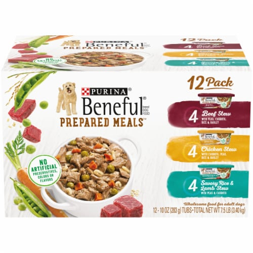 Beneful Prepared Meals Wet Dog Food Variety Pack Perspective: front