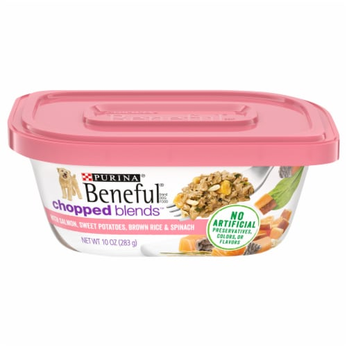 Beneful Chopped Blends with Salmon Wet Dog Food Perspective: front
