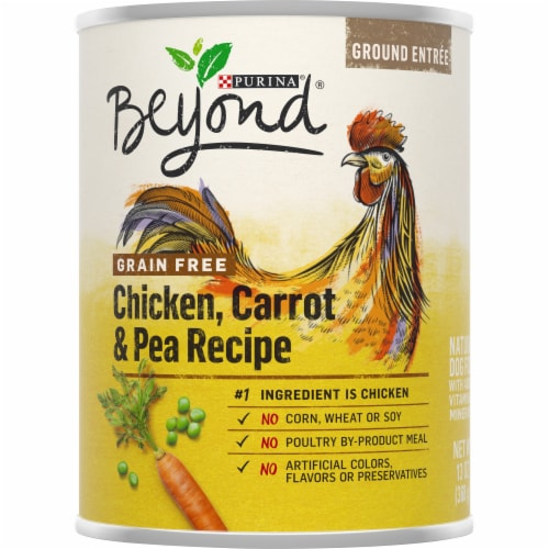 Beyond Grain Free Chicken, Carrot & Pea Recipe Wet Dog Food Perspective: front