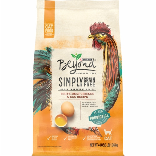Beyond Simply Grain Free White Meat Chicken & Egg Recipe Dry Cat Food Perspective: front
