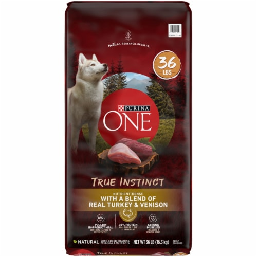Purina ONE SmartBlend True Instinct Turkey & Venison Adult Dry Dog Food Perspective: front