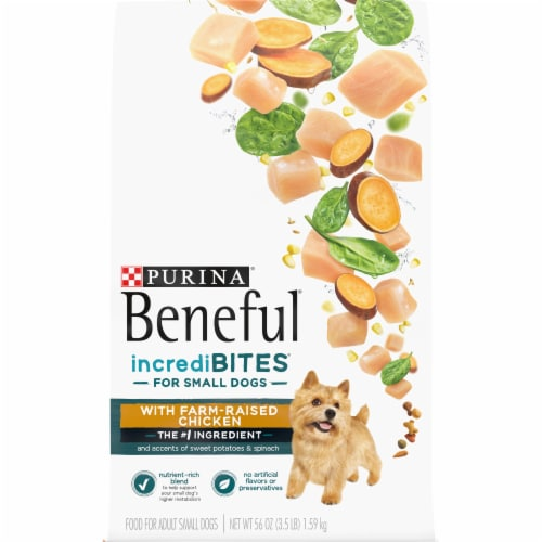 Beneful IncrediBites with Farm-Raised Chicken Small Breed Dry Dog Food Perspective: front