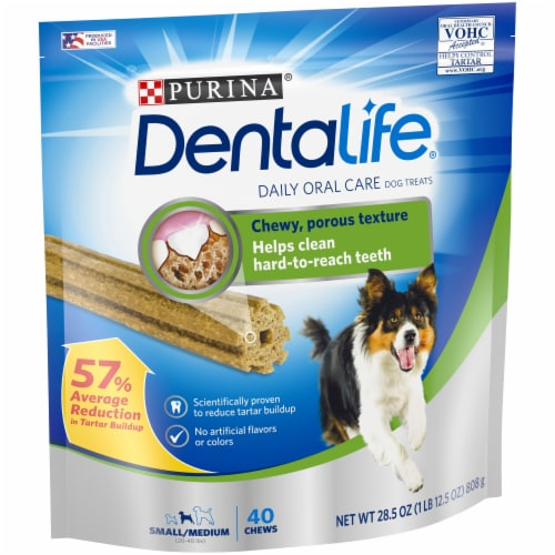 DentaLife Small/Medium Daily Oral Care Dog Treats 40 Count Perspective: front