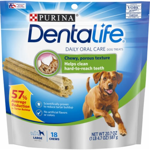 DentaLife Large Daily Oral Care Dog Treats 18 Count Perspective: front