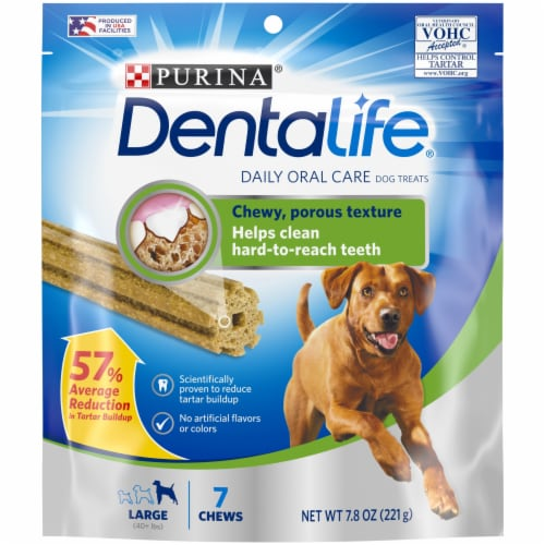 DentaLife Daily Oral Care Large Dog Treats 7 Count Perspective: front
