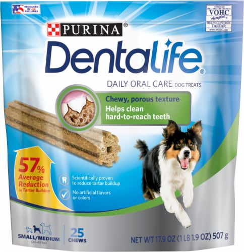 DentaLife Daily Oral Care Small/Medium Dog Treat Chews Perspective: front