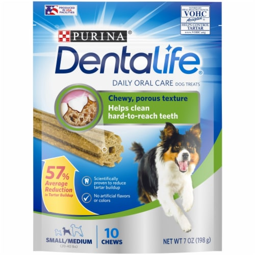 DentaLife Small Daily Oral Care Dog Treats 10 Count Perspective: front