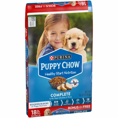 Puppy Chow Healthy Start Nutrition Complete Dry Dog Food Bonus Size Perspective: front