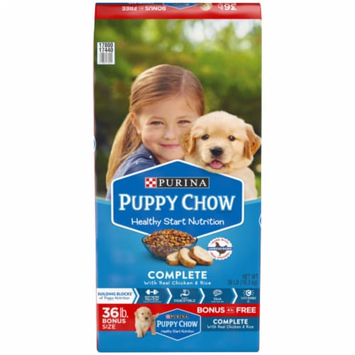 Puppy Chow Complete with Real Chicken & Rice High Protein Dry Puppy Food Perspective: front