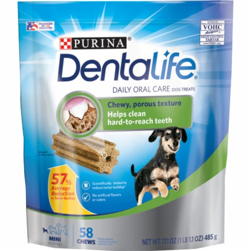 DentaLife Mini Daily Oral Care Dog Treats Perspective: front