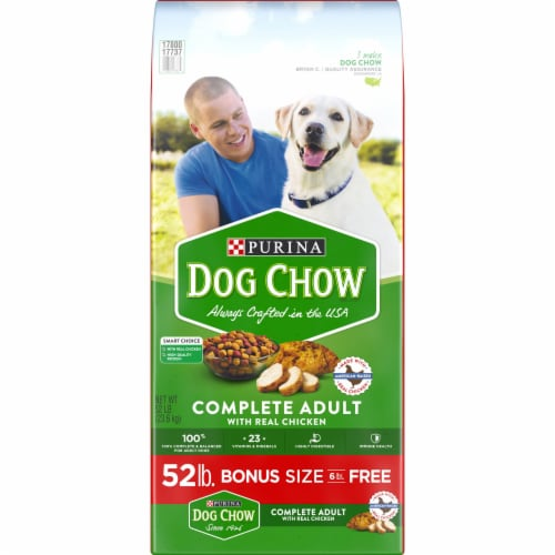 Dog Chow Complete with Real Chicken Adult Dry Dog Food Perspective: front