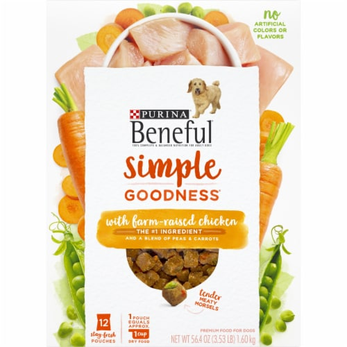 Beneful Simple Goodness with Farm Raised Chicken Adult Dry Dog Food Perspective: front