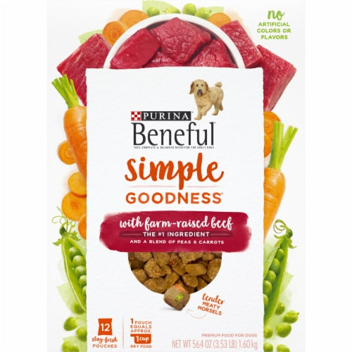 Purina Beneful Simple Goodness with Farm Raised Beef Adult Dry Dog Food Perspective: front