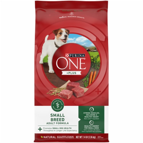 Purina One SmartBlend Lamb & Rice Formula Small Breed Adult Dry Dog Food Perspective: front