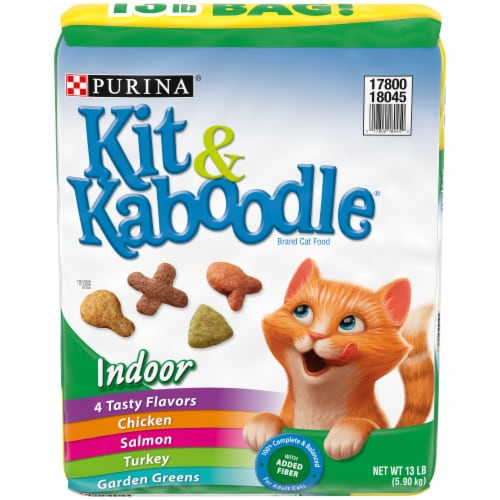 Kit & Kaboodle 4 Tasty Flavors Indoor Dry Cat Food Perspective: front