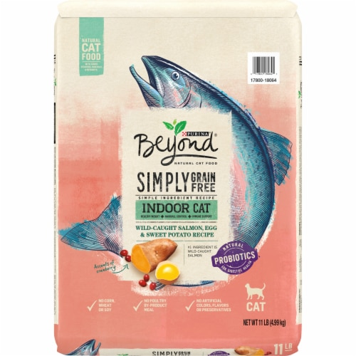 Beyond Grain Free Salmon Egg Sweet Potato Recipe Dry Indoor Cat Food Perspective: front