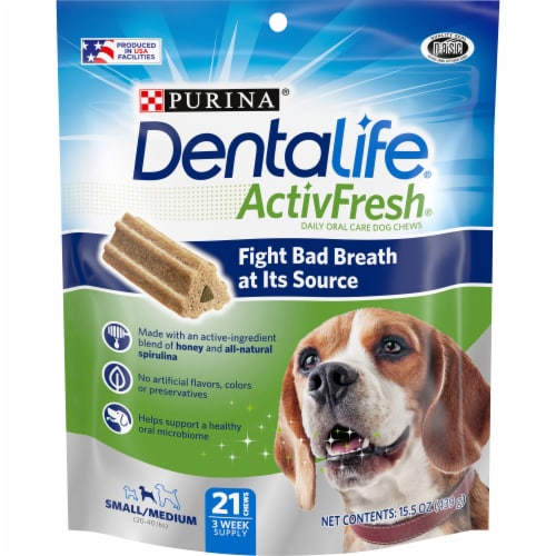 Purina DentalLife Chicken Dog Treats Perspective: front